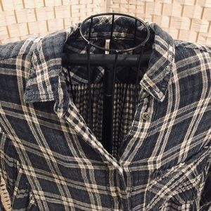 Free People flannel shirt